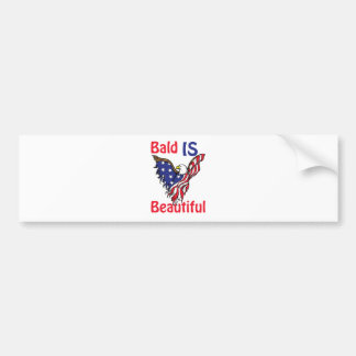 Bald is Beautiful - style 1 Bumper Sticker