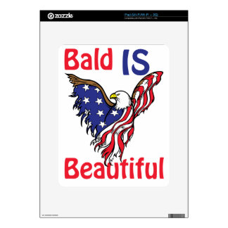 Bald is Beautiful - style 1 Decal For iPad