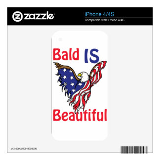 Bald is Beautiful - style 1 iPhone 4 Decal