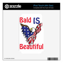Bald is Beautiful - style 1 iPod Touch 4G Skins
