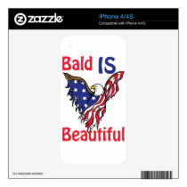 Bald is Beautiful - style 1 Skin For iPhone 4
