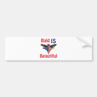Bald is Beautiful  - style 2 Bumper Sticker