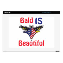 Bald is Beautiful  - style 2 Decals For Laptops