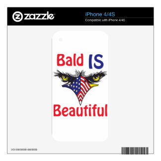 Bald is Beautiful  - style 2 iPhone 4S Skin