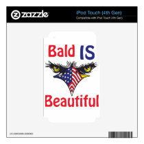 Bald is Beautiful  - style 2 iPod Touch 4G Decal