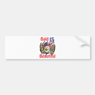 Bald is Beautiful  - style 3 Bumper Sticker