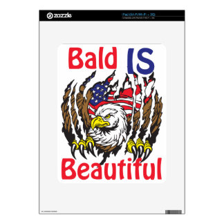 Bald is Beautiful  - style 3 Decal For iPad