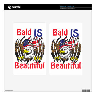 Bald is Beautiful  - style 3 Decal For Kindle Fire
