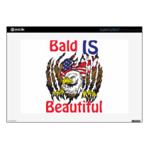 Bald is Beautiful  - style 3 Decal For Laptop