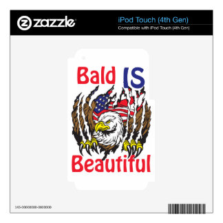 Bald is Beautiful  - style 3 iPod Touch 4G Decal