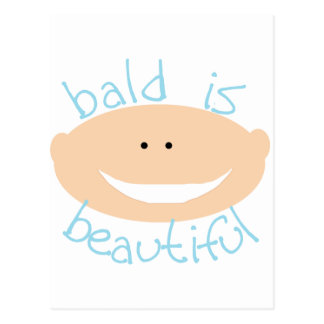 Bald is Beautiful Tshirts and Gifts Postcard