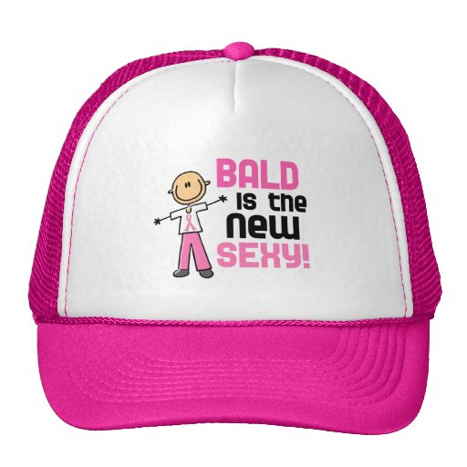 Bald Is The New Sexy Breast Cancer Stick Figure Trucker Hat