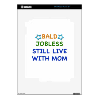 Bald Jobless funny present gift baby shower boy iPad 2 Skin