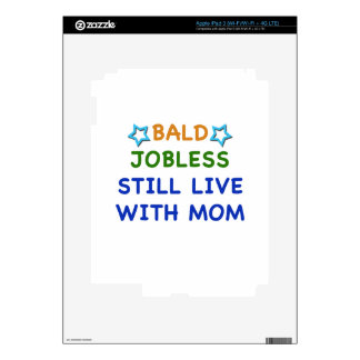 Bald Jobless funny present gift baby shower boy Decals For iPad 3