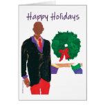 """Bald Man"" Happy Holidays Cards"