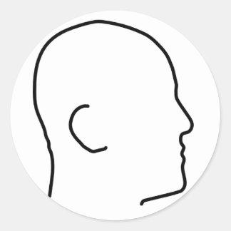 Bald Man(or Woman) Classic Round Sticker