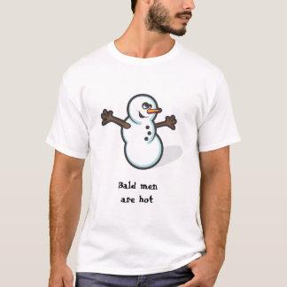 Bald Pride Optimistic Snowman Funny Tshirt