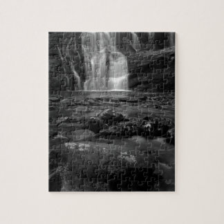 Bald River Falls bw.jpg Jigsaw Puzzle