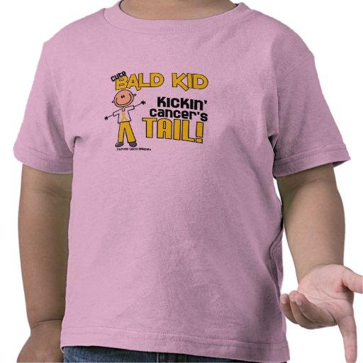 Bald Stick Figure Collection (Childhood Cancer) Tee Shirt