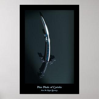 Balde azul de Coriolis del arsenal mágico Posters