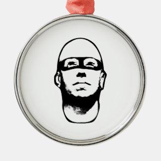 Baldhead Hero Illustration Metal Ornament