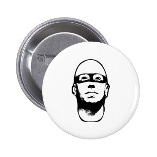 Baldhead Hero Illustration Pinback Button