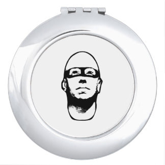 Baldhead Hero Illustration Vanity Mirror
