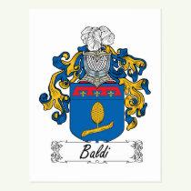 Baldi Family Crest Postcard