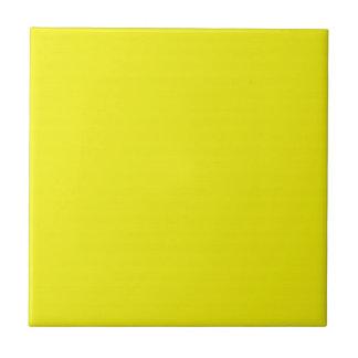 Baldosa cerámica amarilla brillante sólida azulejo cuadrado pequeño