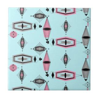 Baldosa cerámica atómica del modelo rosado y gris azulejo cuadrado pequeño