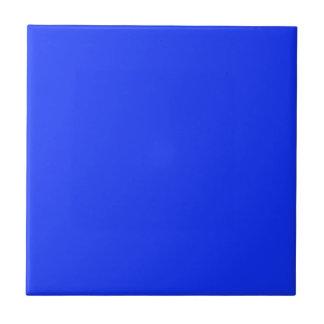 Baldosa cerámica azul brillante sólida azulejo cuadrado pequeño