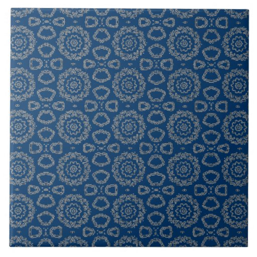 Baldosa cerámica azul decorativa azulejo cuadrado grande