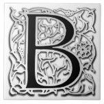 """Baldosa cerámica Besque de la plata"""" del monograma Tejas Ceramicas"""