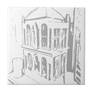 Baldosa cerámica blanca de las placas de papel de azulejo cuadrado pequeño