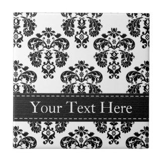 Baldosa cerámica blanco y negro Trivet Azulejo Cuadrado Pequeño