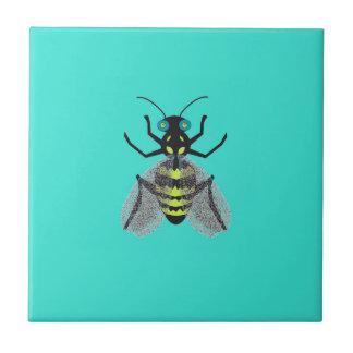 Baldosa cerámica con la abeja colorida azulejo cuadrado pequeño
