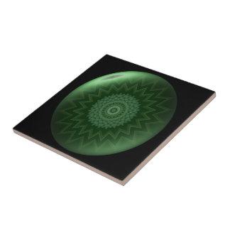 Baldosa cerámica de Chakra del corazón verde Azulejo Cuadrado Pequeño