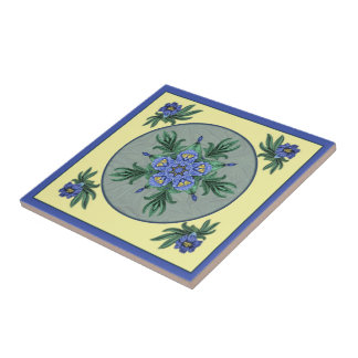 Baldosa cerámica de Dreamcatcher del lirio de pied Azulejo Cerámica