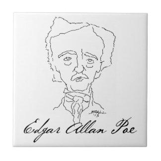 Baldosa cerámica de Edgar Allan Poe Tejas Cerámicas