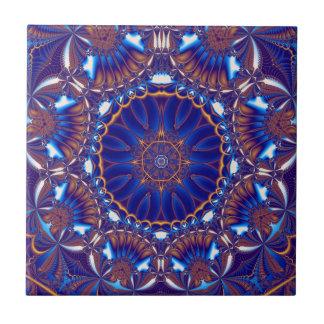 baldosa cerámica de encargo del cobalto azulejo cuadrado pequeño