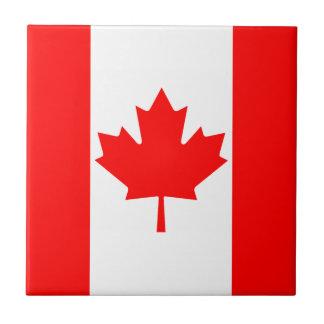 Baldosa cerámica de la bandera de Canadá Teja