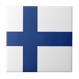 Baldosa cerámica de la bandera de Finlandia Teja Ceramica