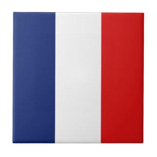 Baldosa cerámica de la bandera de Francia Azulejo Cuadrado Pequeño