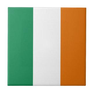 Baldosa cerámica de la bandera de Irlanda Azulejo Cuadrado Pequeño
