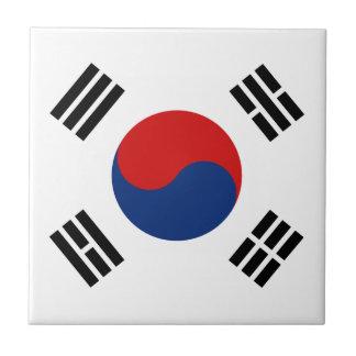 Baldosa cerámica de la bandera de la Corea del Sur Azulejo Cuadrado Pequeño