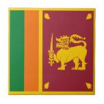 Baldosa cerámica de la bandera de Sri Lanka Azulejo