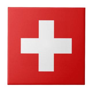 Baldosa cerámica de la bandera de Suiza Azulejos Cerámicos
