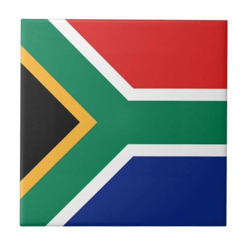 Baldosa cerámica de la bandera de Suráfrica Azulejo