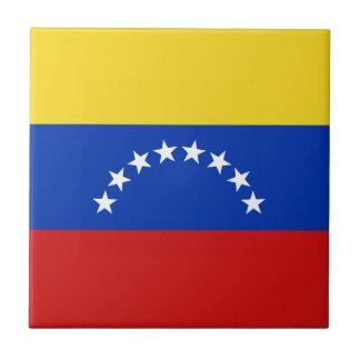 Baldosa cerámica de la bandera de Venezuela Azulejo Cuadrado Pequeño