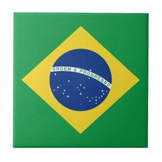 Baldosa cerámica de la bandera del Brasil Azulejo Cuadrado Pequeño